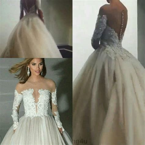 2016 Long Sleeves Winter Plus Size Lace Wedding Dresses