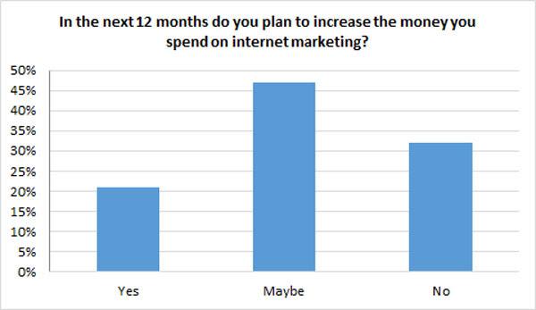 Marketing budget in next 12 months