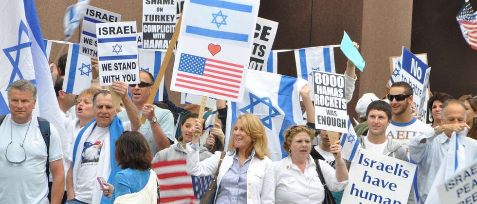 Pro-Israel protest in Los Angeles (  )