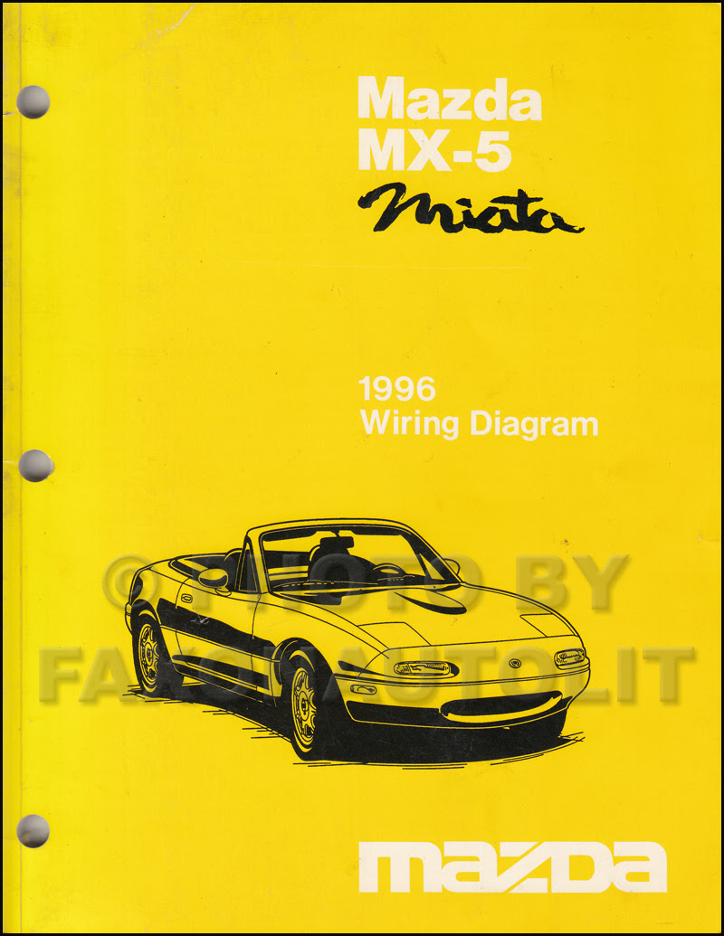 1996 Mazda MX-5 Miata Wiring Diagram Manual Original