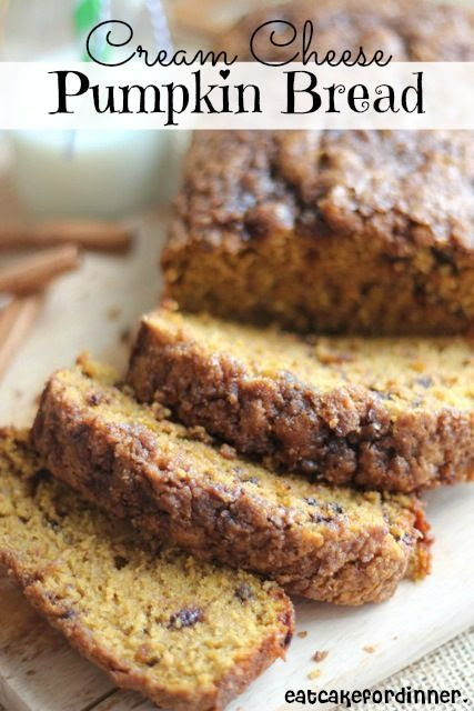 Cream Cheese Pumpkin Bread with a light streusel topping ~ The streusel topping is so crunchy and so delicious.  The flavor is ridiculous and the texture is moist, but not gooey... this is one pumpkin recipe you will want to make all year long!