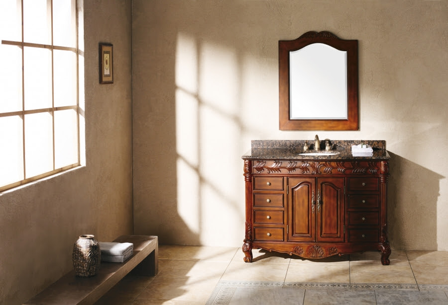 48 Inch Single Sink Bathroom Vanity with Dovetailed ...