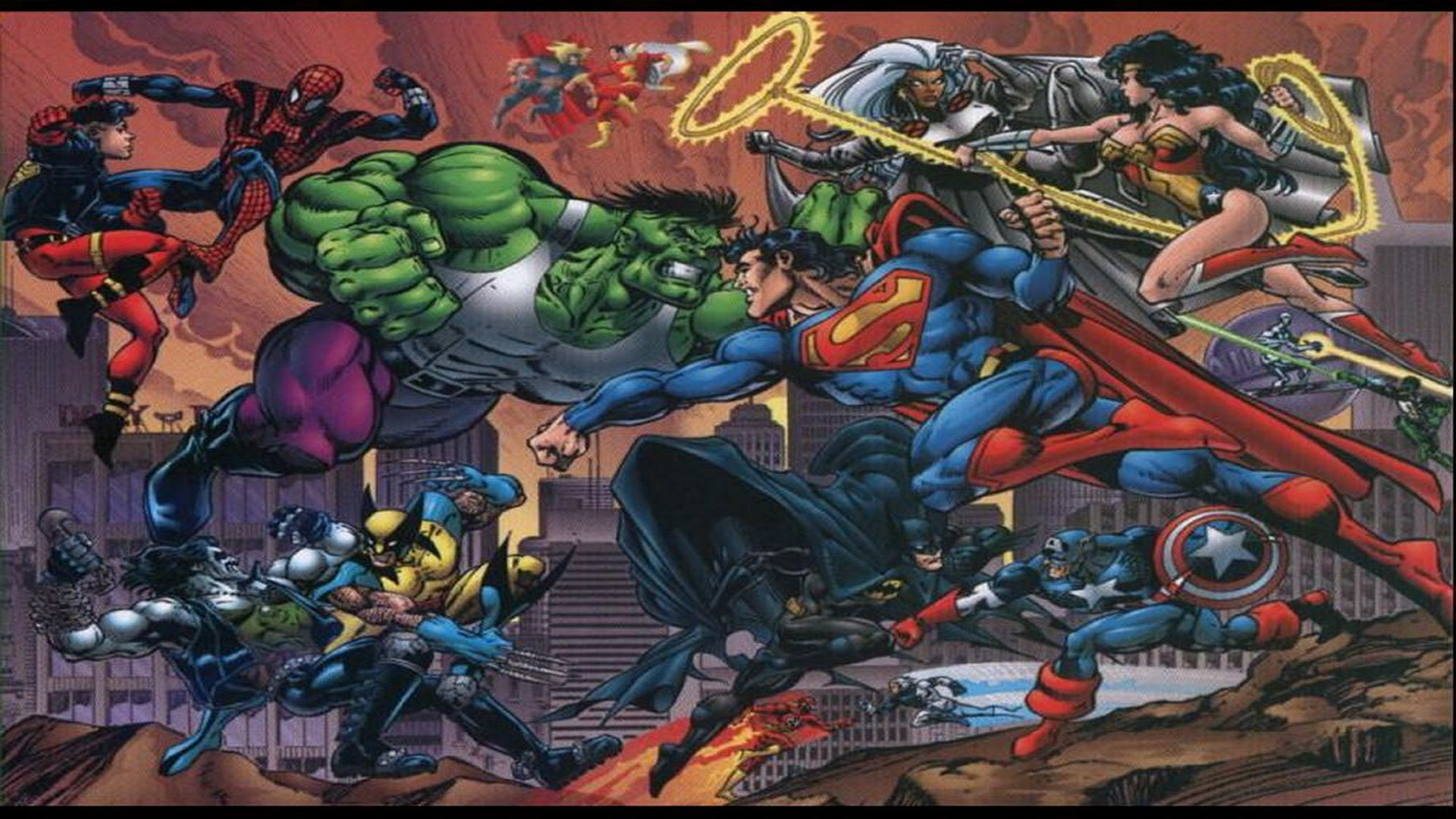 More Marvel Vs Dc Wallpapers Marvel Comics Action Scenes