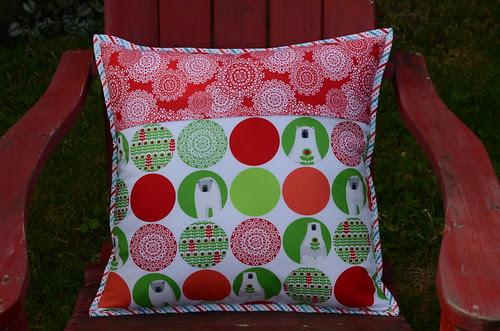 Brrr! half-square pillow back by Poppyprint