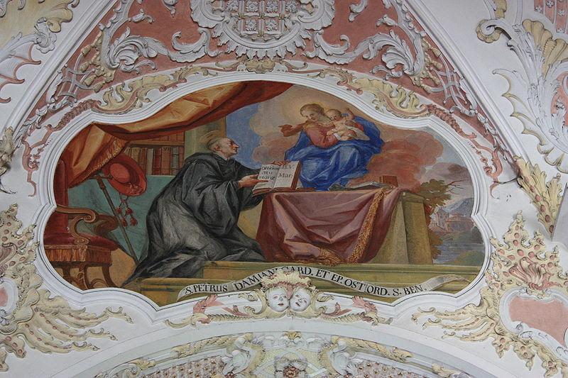 Monastery Ossiach - Celling-painting: Virgin Mary is appearing to Cardinal Petrus Damiani - Painter: Josef Ferdinand Fromiller