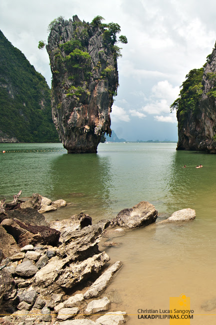 The Famous Ko Tapu Rock at Thailand's Phang Nga Bay