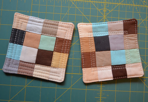 Playing with my palette - some coasters