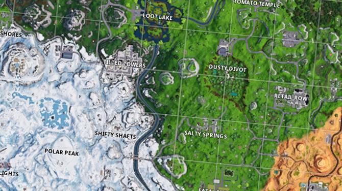 Map Fortnite Saison 7 Nouvelle Carte Fortnite Battle Royale
