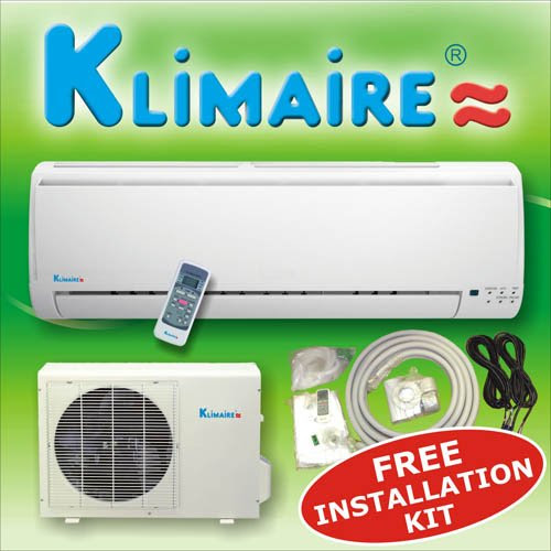buynow klimaire 9000 btu 13 seer mini split ductless air. Black Bedroom Furniture Sets. Home Design Ideas