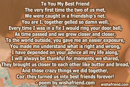 Poems For Best Friends