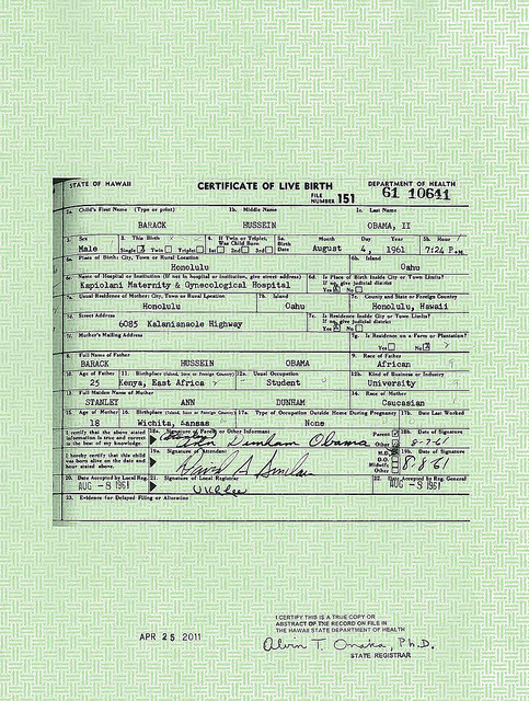 Obama birth certificate SC Today is the One Year Anniversary of the Release of Obamas Forged Long Form Birth Certificate!