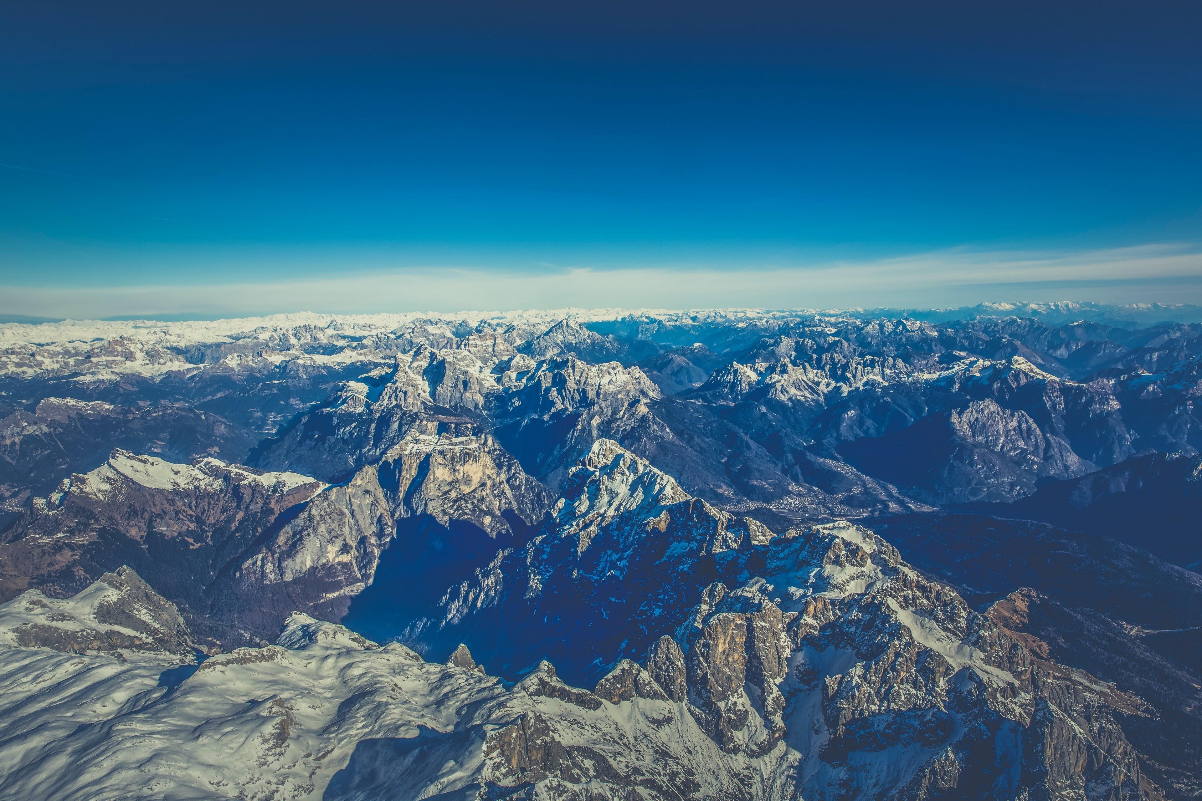 Alp Hot Air Balloon Panorama And Top View Hd 4k Wallpaper And Images, Photos, Reviews