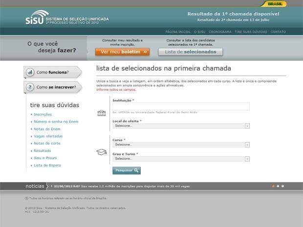 Lista de aprovados pode ser consultada no site (Foto: Reprodução)