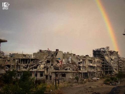 A neighborhood in Homs, Syria. Sept 24, 2013 Thanks@LensHomsi