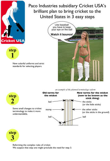 How to make Americans interested in the game of Cricket