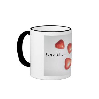 Love is...., chocolate mug