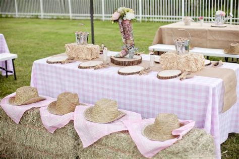 Kara's Party Ideas Shabby Chic Cowgirl Birthday Party