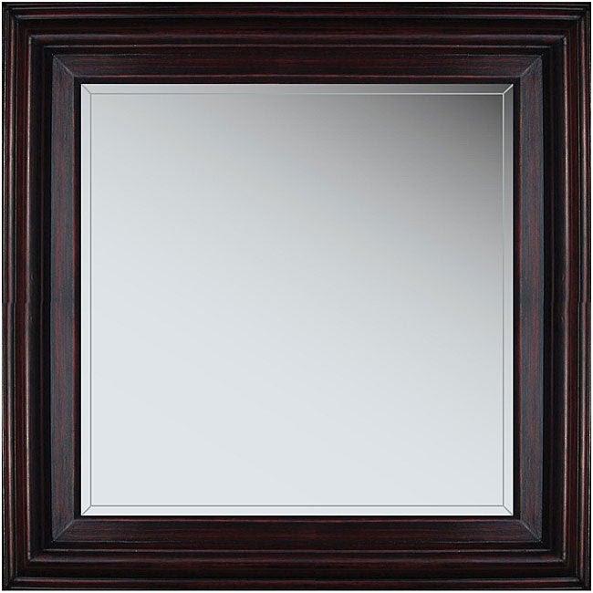 Marin 21-inch Cherry Wood Framed Mirror - Overstock ...
