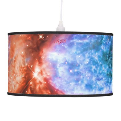Monogram The Swan, Constellation Cygnus deep space Hanging Pendant Lamps