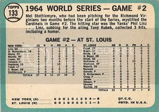 #133 World Series Game Two: Stottlemyre Wins (back)