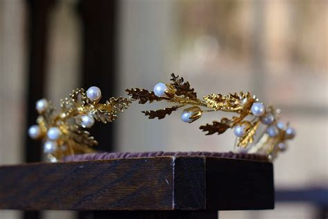 Grecian crown, oak leaf diadem, Aphrodite, goddess crown