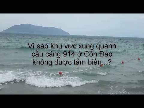 Vì sao xung quanh cầu cảng 914 ở Côn Đảo giăng dây phao cấm tắm?