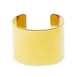 J.Crew High Shine Wide Cuff Bracelet