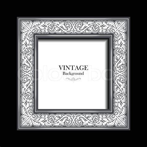 Vintage white frame, antique,     Stock Vector   Colourbox
