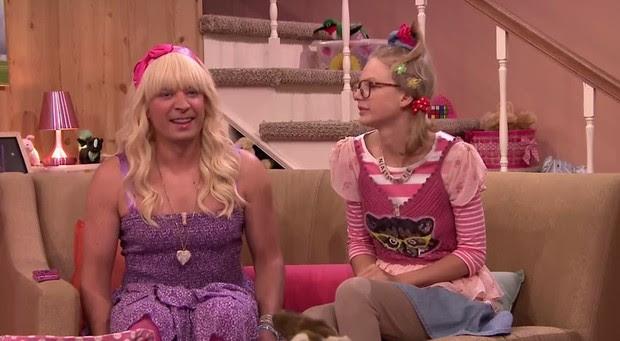 Jimmy Fallon e Taylor Swift (Foto: Video/Reprodução)