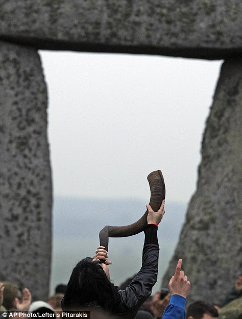 People gather at Stonehenge