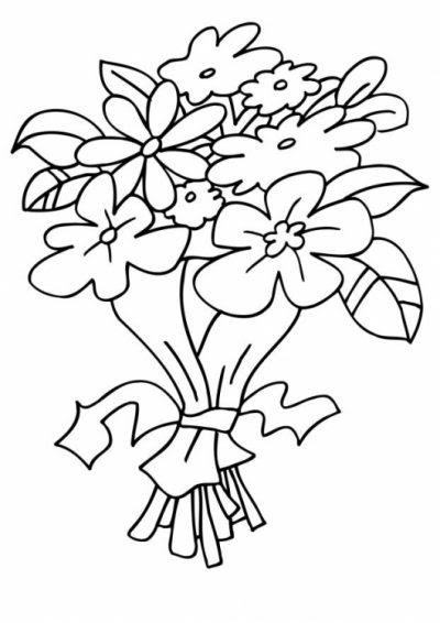 Dibujo De Ramos De Flores Dibujo Para Colorear De Ramos De Flores