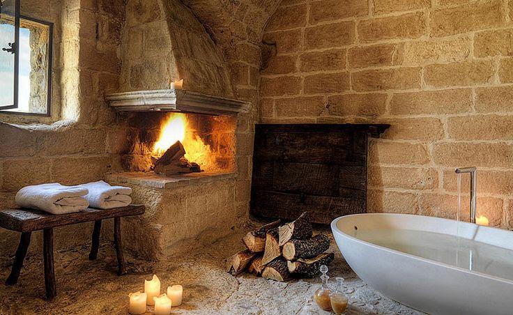 Sextantio Grotte della Civita bathroom | Welcome Beyond