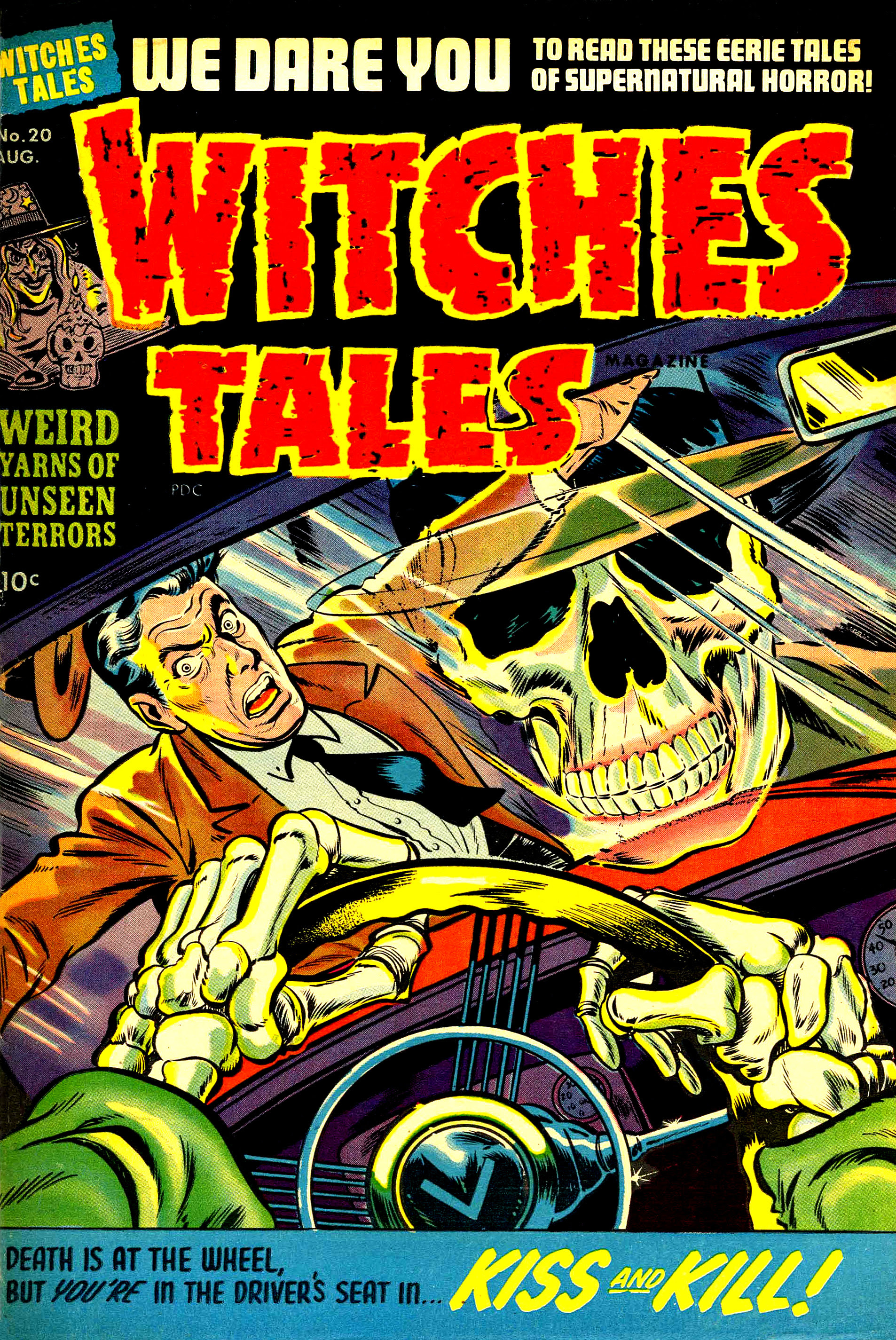 Witches Tales #20, Warren Kremer, Lee Elias Cover (Harvey, 1953)