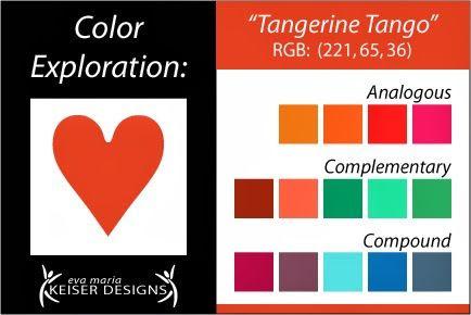 Eva Maria Keiser Designs: Explore Color: Tangerine Tango