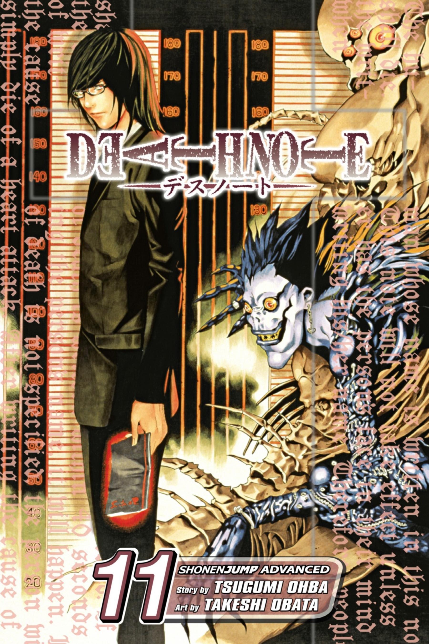 portada del tomo 11 del cómic manga de fantasía y suspense Death note