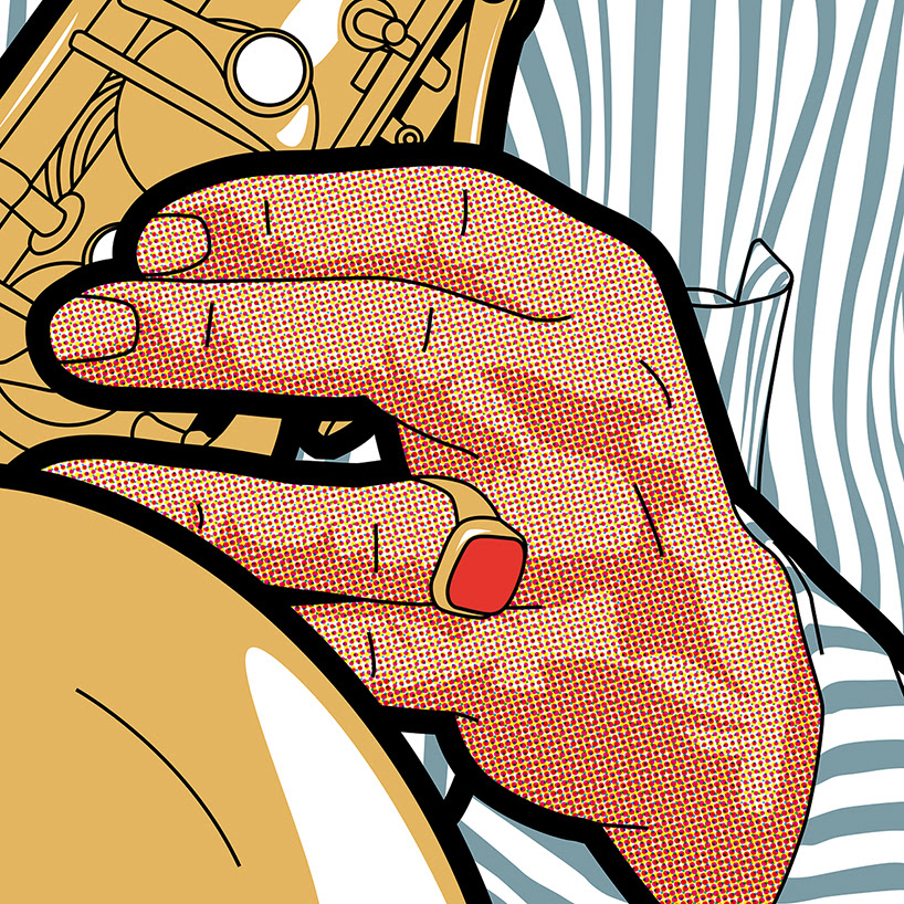 greg guillemin's pop-art personalities reveal the montreux jazz festival's musical lineup