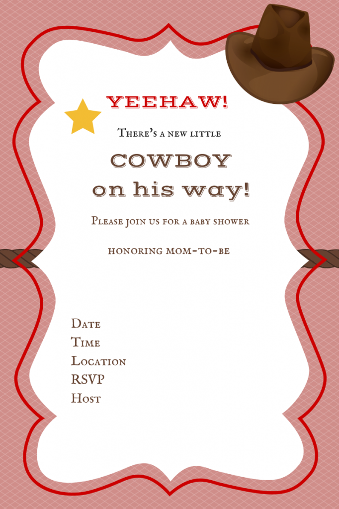 45 Free Printable Western Baby Shower Invitations Free Baby