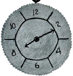 Clock Potholder Pattern