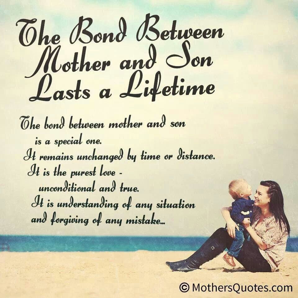 Bond between mother and son  Words to Remember  Pinterest