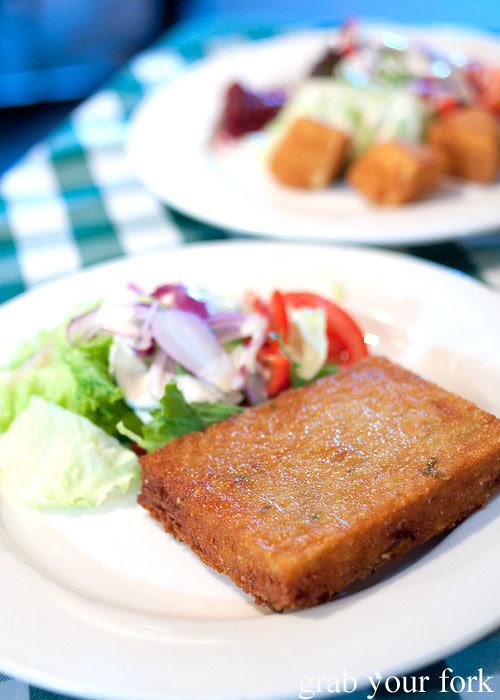 Roesti potato cake at Rhinedorf German Restaurant
