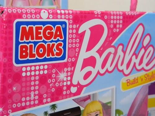 Mega Bloks Barbie Party - lizard & ladybug