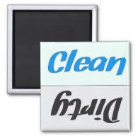 Dirty Clean Dishwasher Magnet
