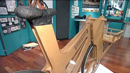 cardboard bicycle, cardboard bike, bike made from cardboard, eco-friendly bicycle, cardboard bike Phil Bridge, student design bicycle, Sheffeld England student design, cardboard bike, transportation tuesday, cardboard2.jpg