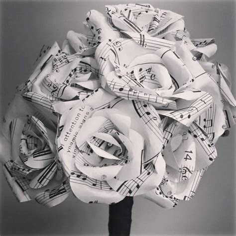 Custom Bouquet   Sheet Music Flower Bouquet With Any