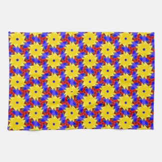 Beautiful Kitchen Towel with Pinwheel Theme