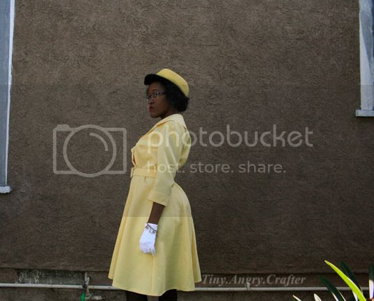 Advance 9925- 1960's yellow dress ensemble by TinyAngryCrafter
