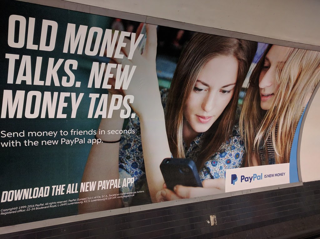 Paypals Advertising In London Tube Feel Free To Use