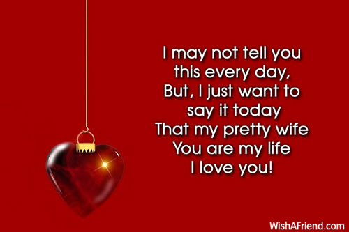 I May Not Tell You This Love Message For Wife
