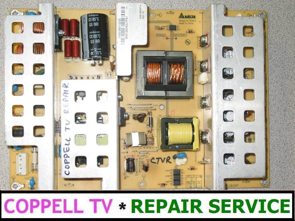 Vizio 0500 0507 0330 Repair Service For Failed Power Supply Board