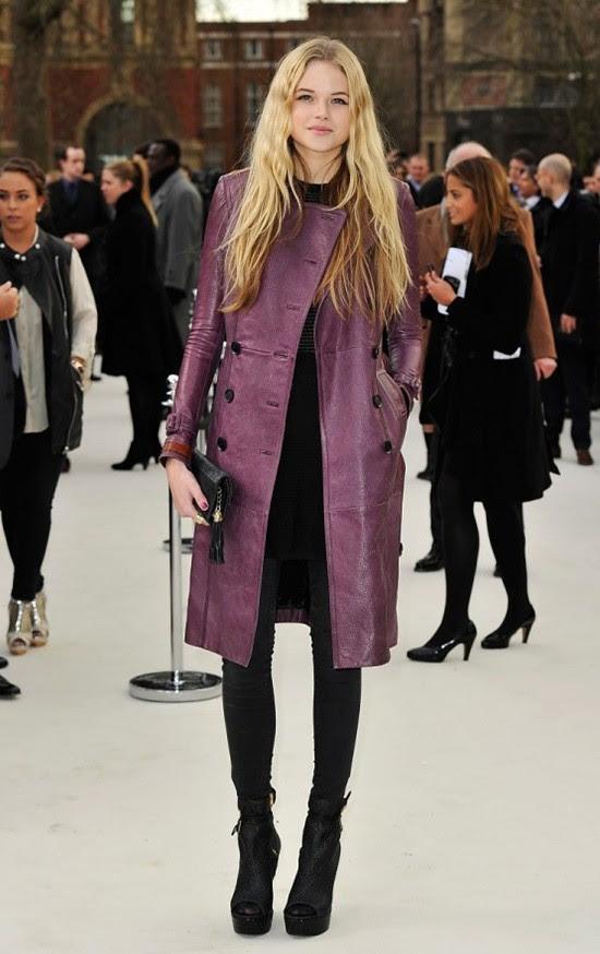 4 - Gabriella Wilde wearing Burberry